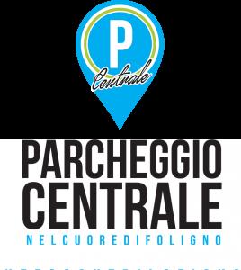 Parcheggio centrale logo sfondato bianco