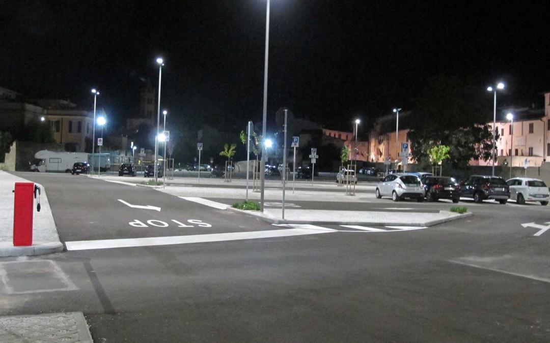 Parcheggio con videosorveglianza