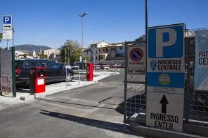 parcheggio centrale a Foligno